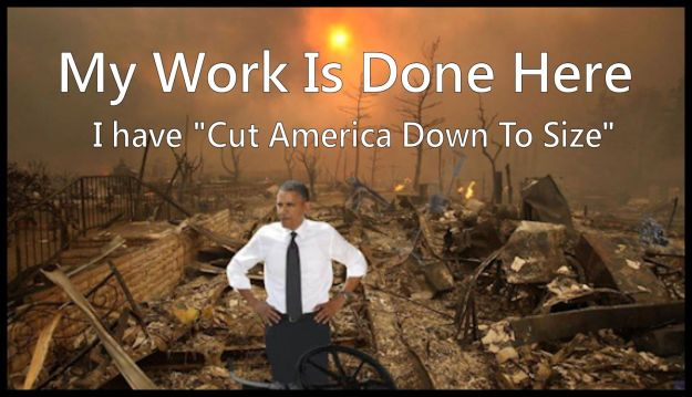 Obama cut America down to size