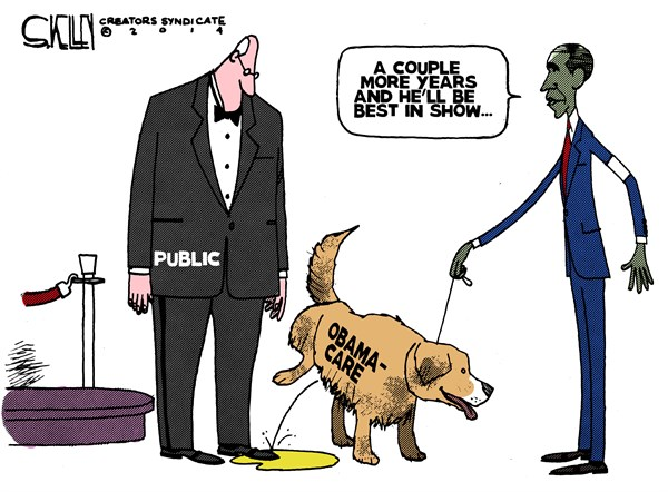 Obamacare peeing dog