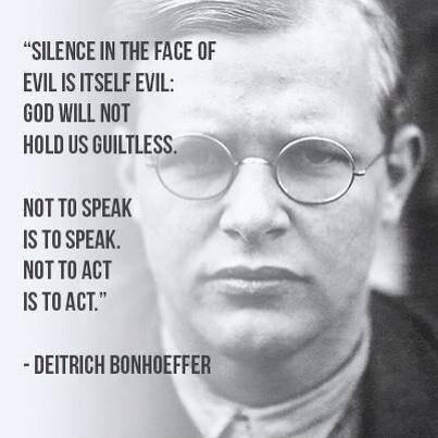 Bonhoffer speak-out