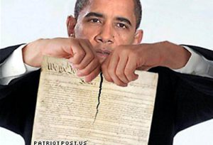 Obama Rips Constitution