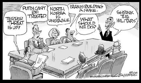 Obama Shrink military