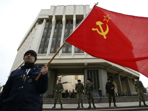 USSR flag being waved